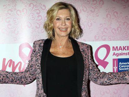 Olivia Newton-John, durante una actividad contra el cáncer de mama en Las Vegas en 2016.