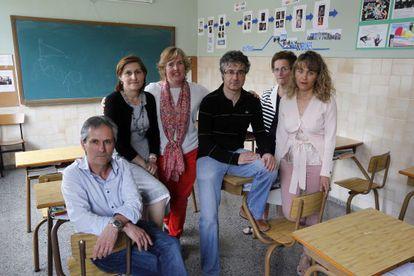 Profesores del colegio de Las Mercedarias de Leioa (Bizkaia) al que acudió una víctima de ETA.