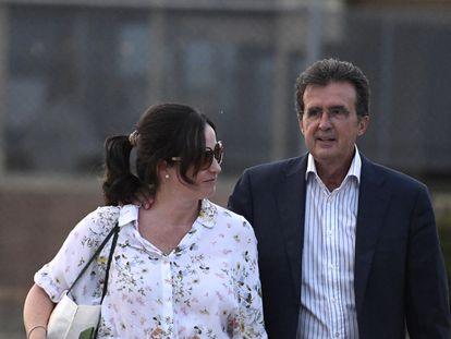 José Luis Ulibarri sale de prisión en 2018 tras su detención por el 'caso Enredadera'.
