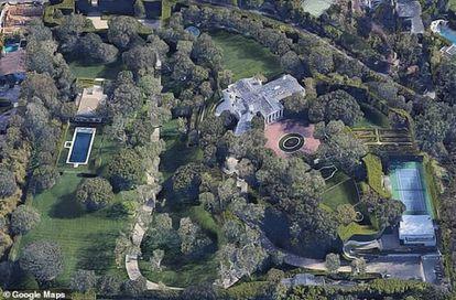 La nueva casa de Jeff Bezos, en una vista aérea.