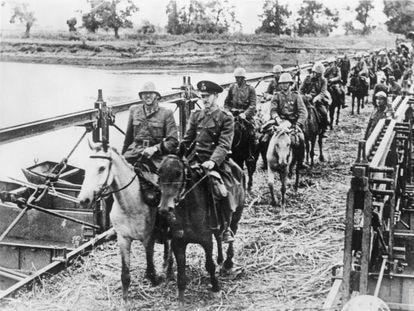 Tropas rumanas durante la invasión de la URSS, en septiembre de 1941.