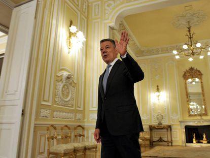 El presidente de Colombia, Juan Manuel Santos, en la Casa de Nariño.