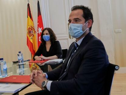 Isabel Díaz Ayuso e Ignacio Aguado, en una imagen de archivo.