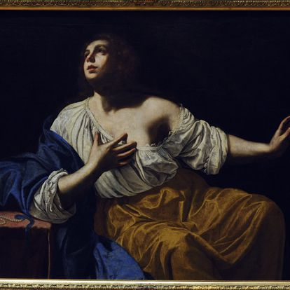 'María Magdalena penitente, obra pintada por Artemisia Gentileschi hacia 1640 que se expone en la Galería Nacional de Oslo.