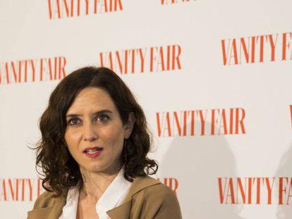 La candidata del PP a la Asamblea de Madrid, Isabel Díaz Ayuso, en Madrid. EUROPA PRESS