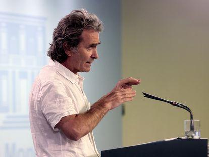El director del Centro de Alertas y Emergencias del Ministerio de Sanidad, Fernando Simón, el miércoles.