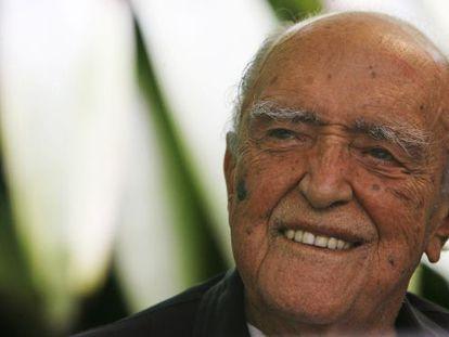 Oscar Niemeyer durante la celebración de su centenario, en 2007.
