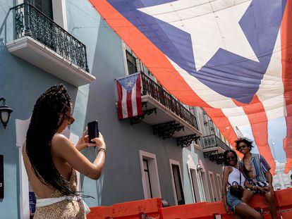 Turistas en San Juan, Puerto Rico.