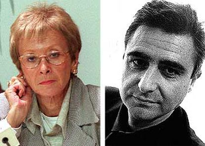María Teresa Fernández de la Vega y Miguel Barroso.