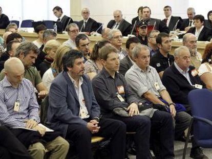 Vista de la sala de la Audiencia donde se celebra el juicio contra las 'herriko tabernas'.