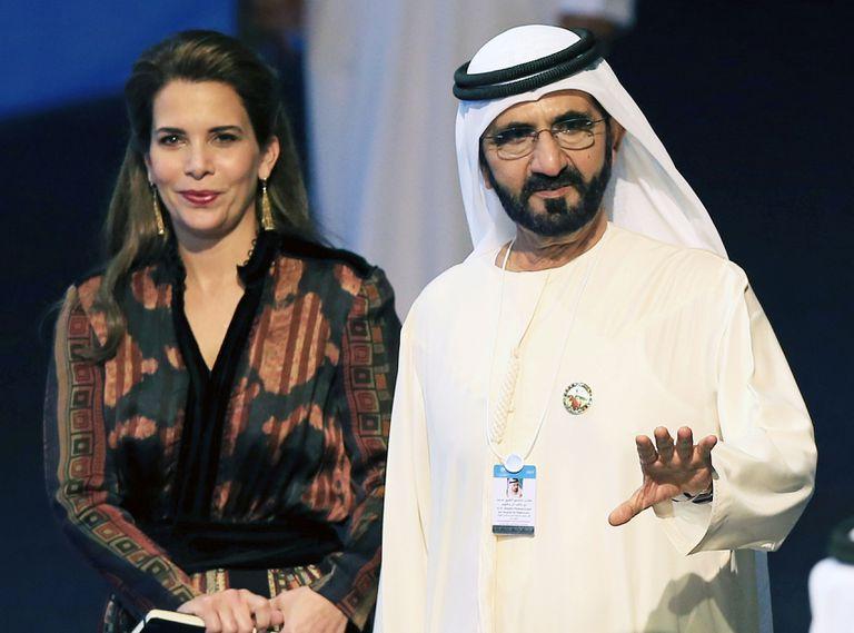 Sheikh Mohamed Bin Rashid al Maktoum, with his ex-wife Princess Haya, in 2017.