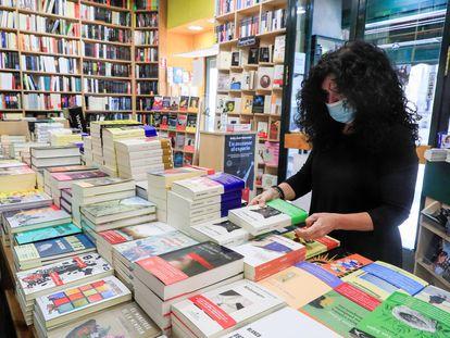 Interior de la librería Antonio Machado, en Madrid, el pasado miércoles.