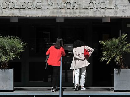 Colegio mayor Loyola de Madrid, este martes. ÁLVARO GARCÍA