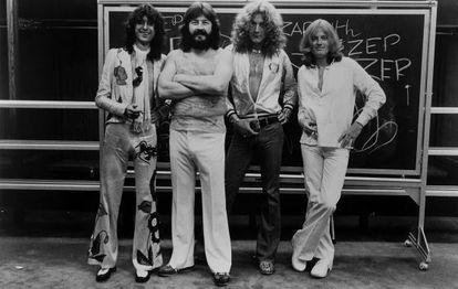 Led Zeppelin en 1977.