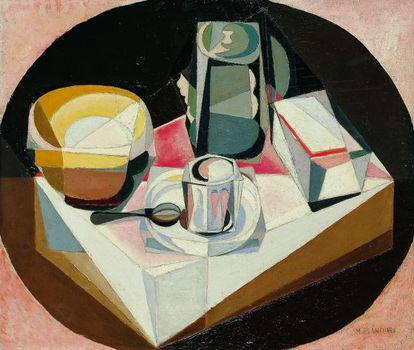 Una de las obras cubistas de Blanchard expuesta en la Fundación Botín.