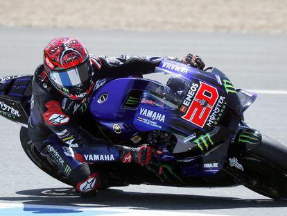 Fabio Quartararo, piloto de Yamaha, en el circuito de Jerez.
