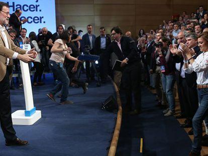 """Rajoy defiende la """"independencia"""" del PP este sábado en Toledo."""