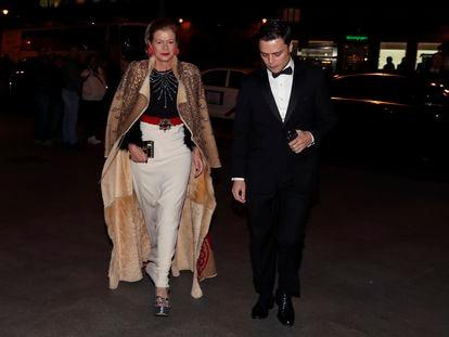 Elena Ochoa a su llegada a los premios 'Mujer hoy', el 25 de febrero en Madrid.