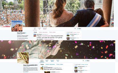 Cuenta de Twitter de la Casa Rosada.