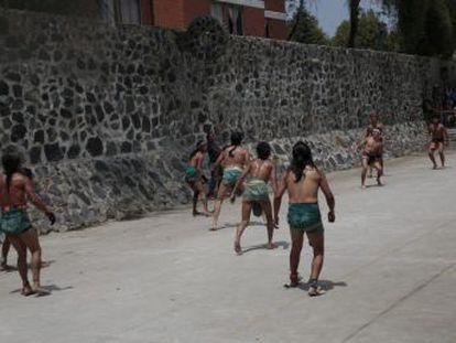 Vecinos de Azcapotzalco, uno de los barrios con más arraigo prehispánico de Ciudad de México, acaban de inaugurar una nueva cancha de este deporte