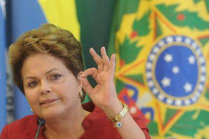 Dilma Rousseff durante un desayuno con periodistas para hablar sobre su segundo año de Gobierno el pasado 27 de diciembre