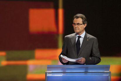 Artur Mas, presidente de la Generalitat en funciones y candidato de CiU.