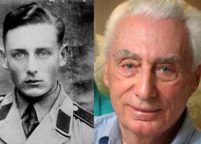 Dos imágenes de Helmut Oberlander que posee el Centro para los Asuntos Judíos y de Israel: con uniforme militar durante la Segunda Guerra Mundial, y en su vejez.