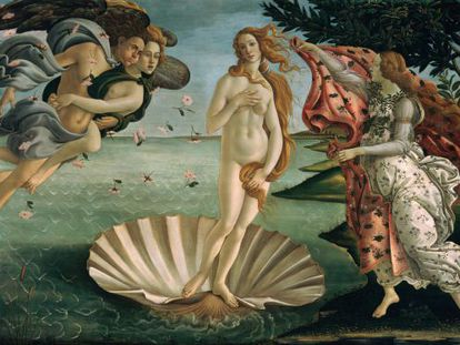 El Nacimiento de Venus, de Boticcelli, muestra a una mujer con un índice cintura cadera de 0,724, cercano a lo que se considera el ideal universal