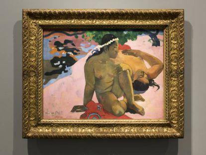Cuadro '¿Qué, estás celosa?' de Gauguin en la Fundación Louis Vuitton de París.