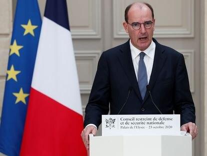 El primer ministro, Jean Castex, en su comparecencia de este viernes en París.