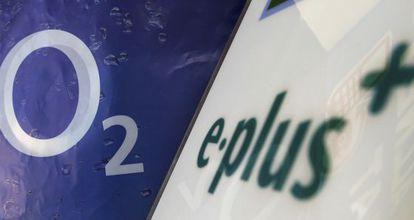 Logos de O2 Deutschland y E-Plus.