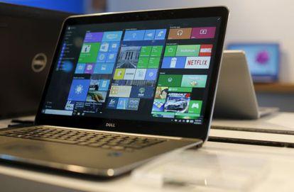Escritorio del sistema Windows 10 en un portátil.