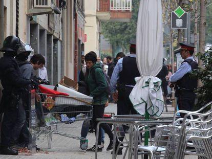 Los Mossos desalojan 'La Benaventurada'