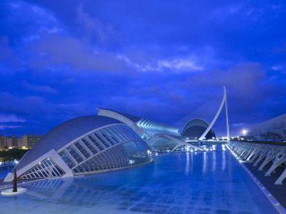 Imagen de La Ciudad de las Artes y las Ciencias de Valencia.