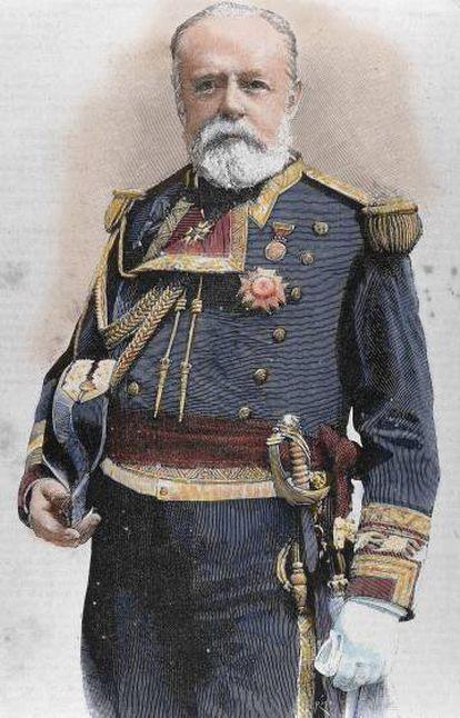 El almirante Pascual Cervera y Topete, tatarabuelo del fotógrafo Guillermo Cervera.