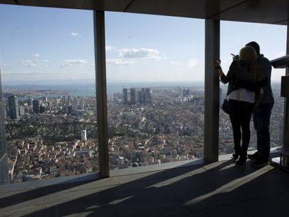 Vista de Estambul desde la torre Sapphire.