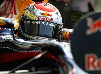 Sebastian Vettel durante la última tanda de los entrenamientos libres del GP de Hungría