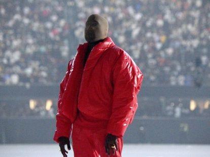 Kanye West durante la fiesta de presentación de su último álbum, 'Donda', el 22 de julio en el Estadio Mercedes-Benz de Atlanta (Georgia).