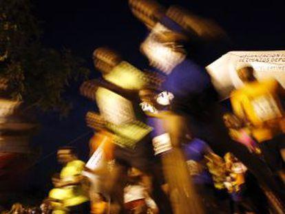 Última edición de la carrera nocturna de Canillejas.