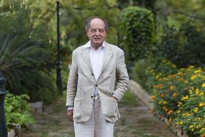 Roberto Calasso, retratado en 2016 al recibir el Premio Formentor de las Letras en Pollença (Mallorca).