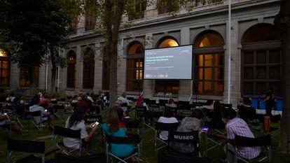 Una de las sesiones de cine africano en el Museo Reina Sofía de Madrid.