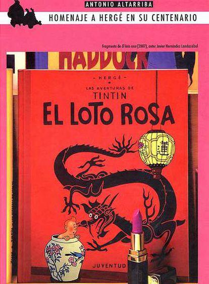 Portada del libro <i>Tintín y el loto rosa,</i> publicado por Edicions de Ponent.