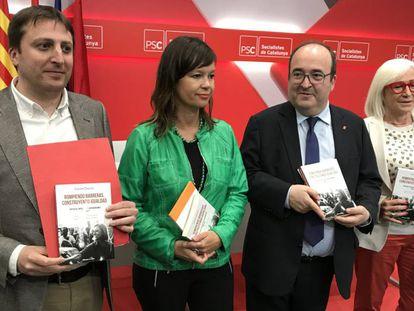 Germán Rodríguez, Leire Pajín, Miquel Iceta y Esther Piqueras.