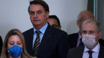 El presidente Jair Bolsonaro, esta semana en Brasilia.