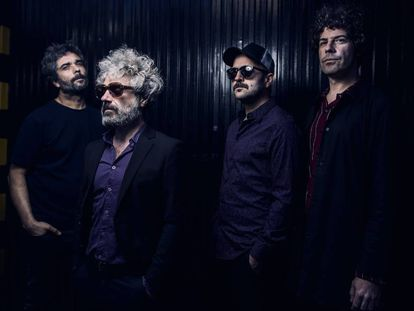 Desde la izquierda, Edu Baos, Abraham Boba, Luis Rodríguez y César Verdú, ayer en Madrid.