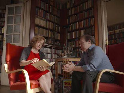 Fotograma de la entrevista con Javier Marías en el espacio de EL PAÍS '¿Qué estás leyendo?'.