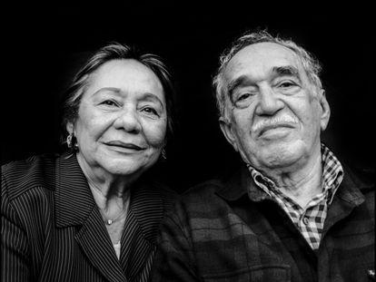 Mercedes Barcha Pardo y Gabriel García Márquez, en Los Ángeles en 2008.