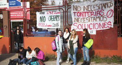 Alumnas del instituto Ciudad de Jaén.