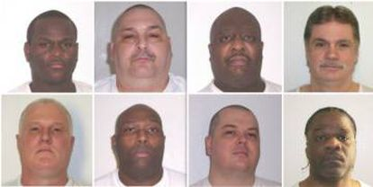 Los ocho reos que serán ejecutados en abril.