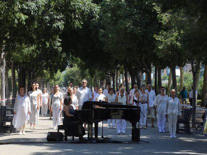 Homenaje a las víctimas de Hipercor.